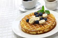 Homemade american round waffles stock images