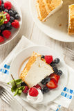 Homemade Angel Food Cake Stock Photo