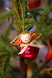 Homemade Angel Tree Ornament Royalty Free Stock Photo
