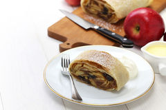 Homemade apfelstrudel, apple strudel Royalty Free Stock Images