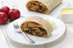 Homemade apfelstrudel, apple strudel Stock Image