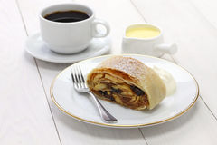 Homemade apfelstrudel, apple strudel Royalty Free Stock Image