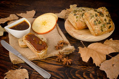Homemade apple butter Royalty Free Stock Photo