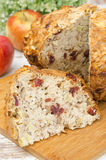 Homemade apple cake with cinnamon and dried cranberries Royalty Free Stock Photography