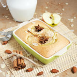 Homemade apple cake stock photography