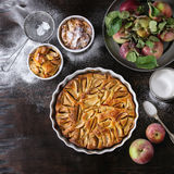 Homemade apple cke Stock Photos
