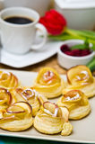 Homemade apple cookies Stock Images