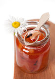 Homemade apple jam closeup Royalty Free Stock Photography