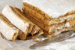 Homemade apple paste (marshmallow) close-up Royalty Free Stock Photography