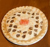Homemade Apple Pie. Fancy decorated homemade apple pie Royalty Free Stock Photos