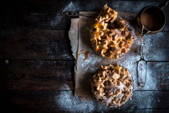 Homemade apple pie with caramel Royalty Free Stock Photography
