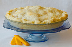 Homemade Apple Pie with Cheddar Cheese Royalty Free Stock Image