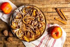 Homemade apple pie with cinnamon stock photography