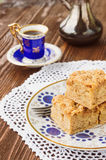 Homemade apple pie and coffee Royalty Free Stock Images