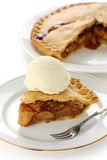 Homemade apple pie with ice cream Stock Photo