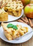 Homemade apple pie with lattice pattern Stock Image