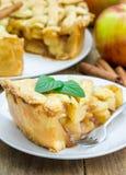 Homemade apple pie with lattice pattern Stock Photo