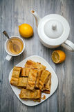 Homemade apple pie made of flaky pastry Stock Photography