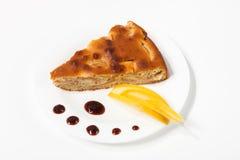 Homemade apple pie on a plate Stock Photos