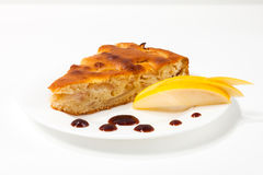Homemade apple pie on a plate Stock Image