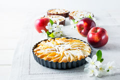 Homemade apple pie with ripe apples Royalty Free Stock Photography