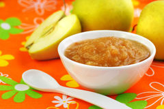 Homemade apple puree Royalty Free Stock Image