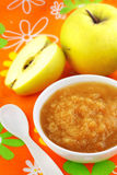 Homemade apple puree Stock Images