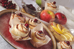 Homemade Apple Rose Cake Royalty Free Stock Photos