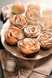 Homemade apple rose cake Royalty Free Stock Image