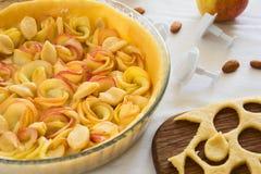 Homemade apple rose tart Royalty Free Stock Images