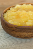 Homemade apple sauce in a bowl Stock Photos