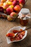 Homemade apple slices jam Stock Images
