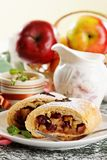 Homemade apple strudel Stock Photo
