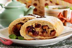 Homemade apple strudel Royalty Free Stock Image