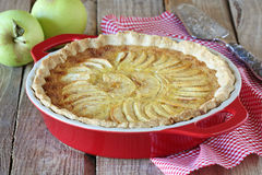 Homemade apple tart Stock Photos