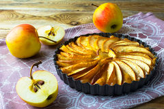 Homemade apple tart Royalty Free Stock Images