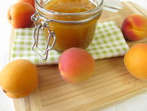 Homemade apricot jam Royalty Free Stock Images