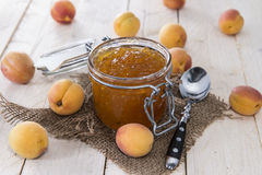 Homemade Apricot Jam Stock Images