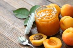 Homemade apricot jam Stock Image