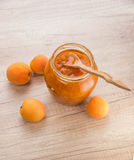 Homemade apricot jam Royalty Free Stock Photos