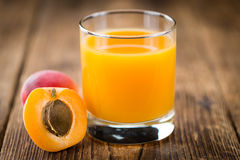 Homemade Apricot Juice. Some homemade Apricot Juice & x28;selective focus& x29; as detailed close-up shot Stock Photo