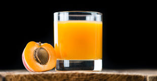 Homemade Apricot Juice. Some homemade Apricot Juice selective focus as detailed close-up shot Stock Images
