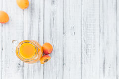 Homemade Apricot Juice. Some homemade Apricot Juice selective focus as detailed close-up shot Royalty Free Stock Photos