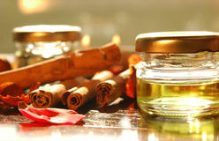 Homemade aromatic oils Royalty Free Stock Photo