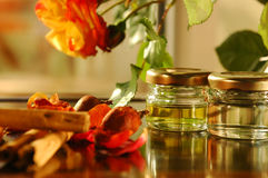 Homemade aromatic oils Stock Photography