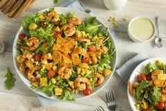 Homemade Arugula Shrimp and Polenta Salad Royalty Free Stock Photo