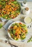 Homemade Arugula Shrimp and Polenta Salad Royalty Free Stock Images