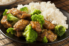Homemade Asian Beef and Broccoli Royalty Free Stock Images