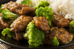 Homemade Asian Beef and Broccoli Stock Photography