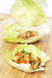 Homemade Asian Chicken Lettuce Wraps Royalty Free Stock Photography